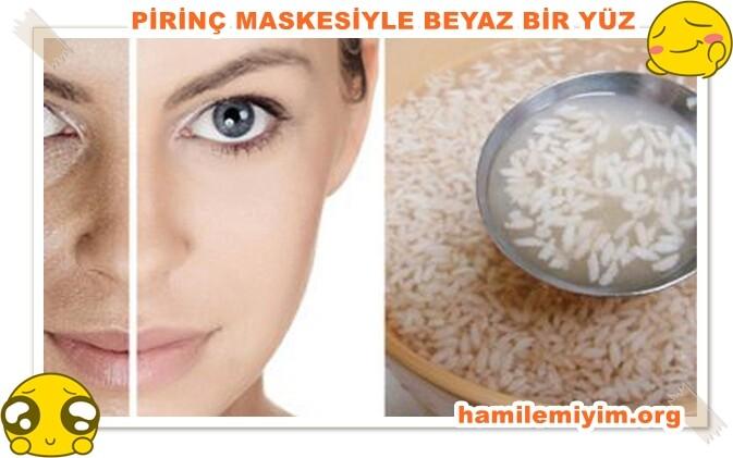 cilt rengini açmak için pirinç maskesi