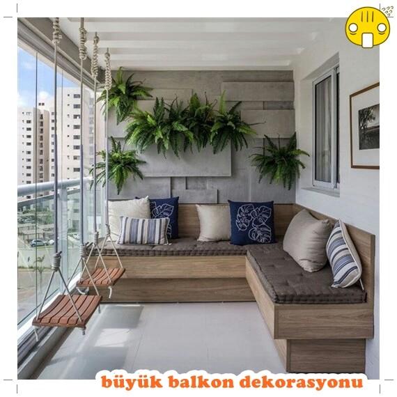 büyük balkon dekorasyonu örneği