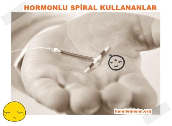 hormonlu spiral kullananlar