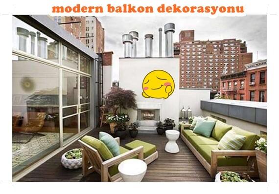 modern lüks büyük balkon dekorasyon fikirleri