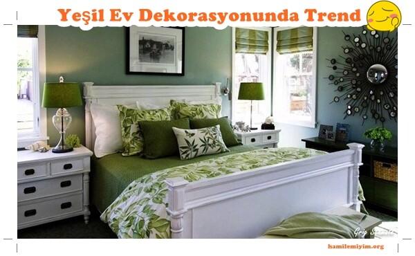 yeşil ev dekorasyonuna güzel bir örnek